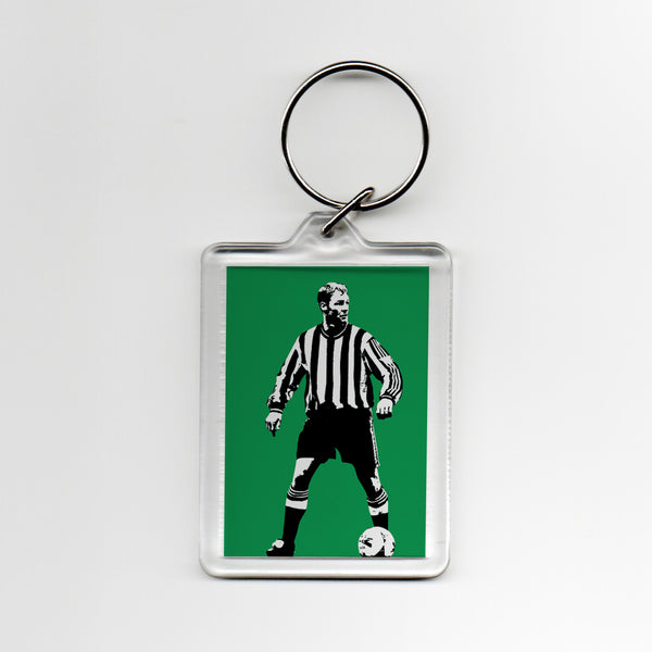 David Batty NUFC Geordie Plastic Keyring