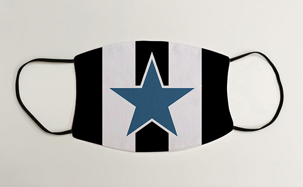 Newcastle Blue Star 1993-95 Home Shirt NUFC Geordie Face Mask Covering
