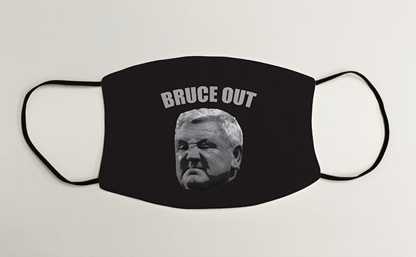 BRUCE OUT NUFC Geordie Face Mask Covering