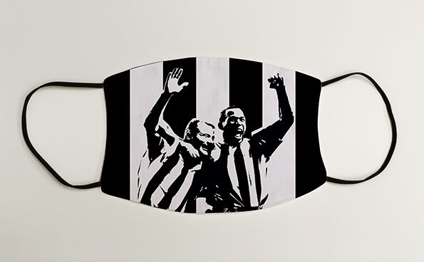 Alan Shearer & Les Ferdinand NUFC Geordie Face Mask Covering