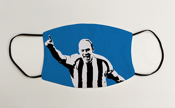 Alan Shearer NUFC Geordie Face Mask Covering