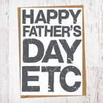 Happy Father's Day Etc Father's Day Blunt Card