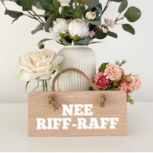 Nee Riff-Raff Geordie Oak Plaque Sign