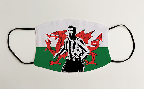Gary Speed Wales NUFC Geordie Face Mask Covering