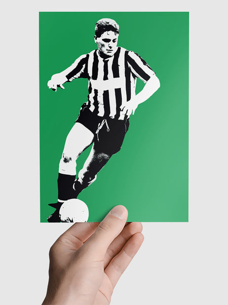 Paul Gascoigne Gazza NUFC Geordie Print A5, A4, A3 A2 or A1 Sizes