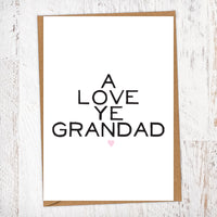 A Love Ye Grandad Greetings Card