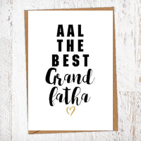 Aal The Best Grandfatha Geordie Card Birthday Card Good Luck Card