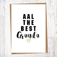 Aal The Best Granda Geordie Card Birthday Card Good Luck Card