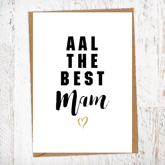 Aal The Best Mam Geordie Card Birthday Card Good Luck Card