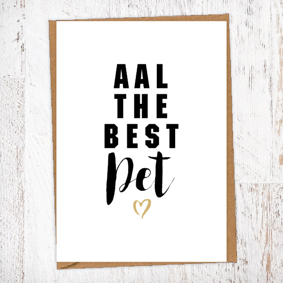Aal The Best Pet Geordie Card Birthday Card Good Luck Card