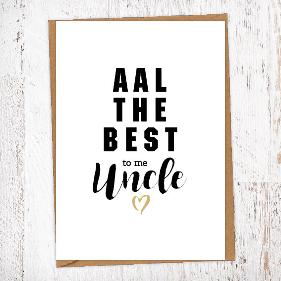 Aal The Best To Me Uncle Geordie Card Birthday Card Good Luck Card