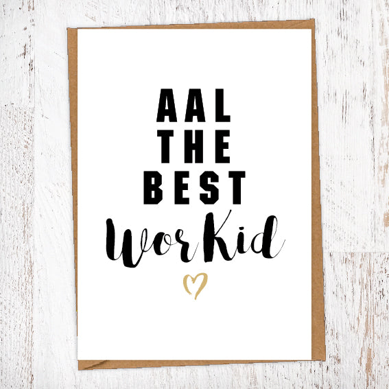 Aal The Best Wor Kid Geordie Card Birthday Card Good Luck Card