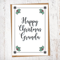 Happy Christmas Granda Christmas Card