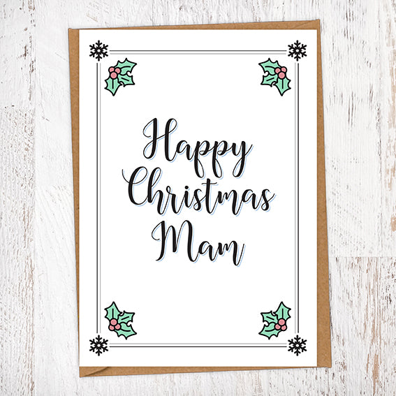 Happy Christmas Mam Christmas Card