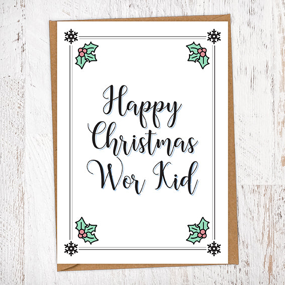 Happy Christmas Wor Kid Christmas Card