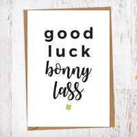 Good Luck Bonny Lass Good Luck Card