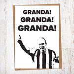 Granda! Granda! Granda! Alan Shearer NUFC Father's Day Card Geordie Card