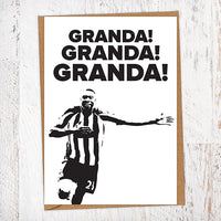 Granda! Granda! Granda! Shola Ameobi NUFC Father's Day Card Geordie Card