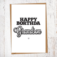 Happy Borthda Grandson Birthday Card