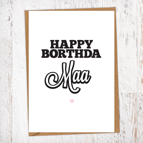 Happy Borthda Maa Birthday Card
