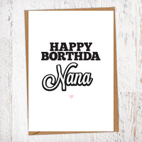 Happy Borthda Nana Birthday Card