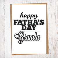 Happy Fatha's Day Granda Geordie Father's Day Card