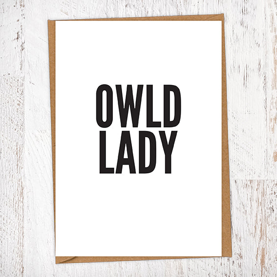Owld Lady Geordie Card Birthday Card