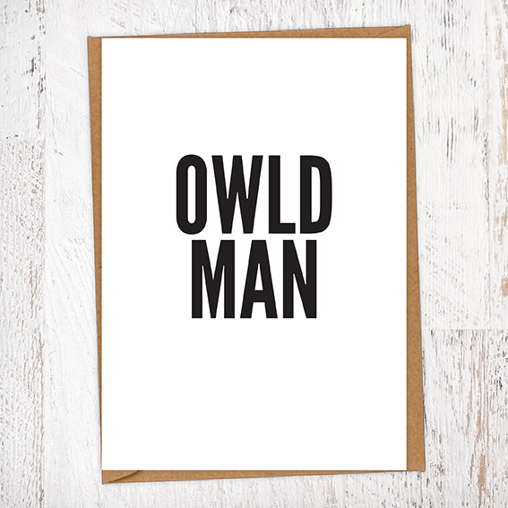 Owld Man Geordie Card Birthday Card
