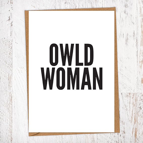 Owld Woman Geordie Card Birthday Card
