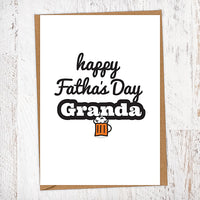 Happy Fatha's Day Granda Pint Geordie Father's Day Card