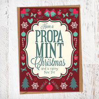 Hava a Propa Mint Christmas and a Canny New Yor Christmas Card