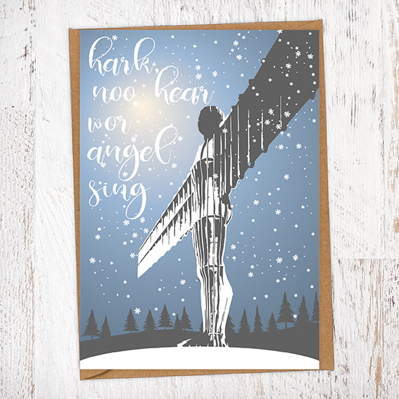 Hark, Noo Here Wor Angel SIng Christmas Card