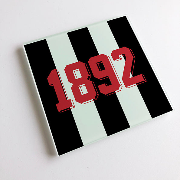 NUFC 1892 Geordie Glass Coaster