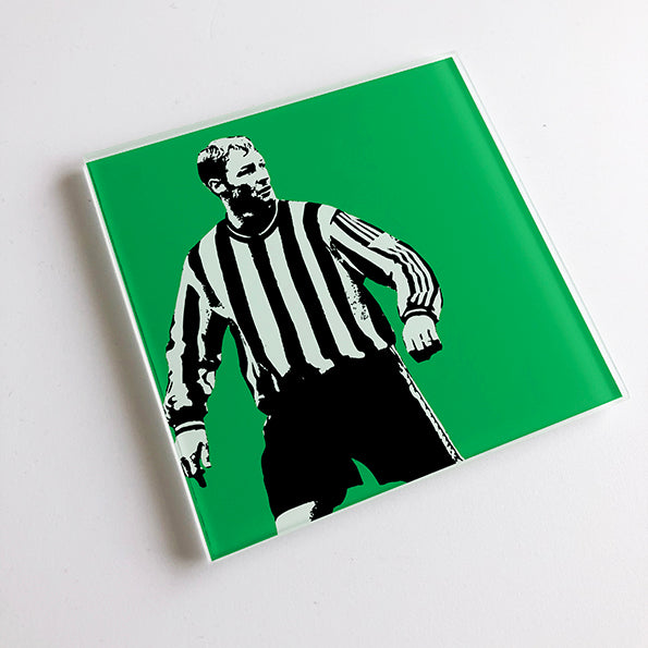 David Batty Engalnd NUFC Glass Coaster