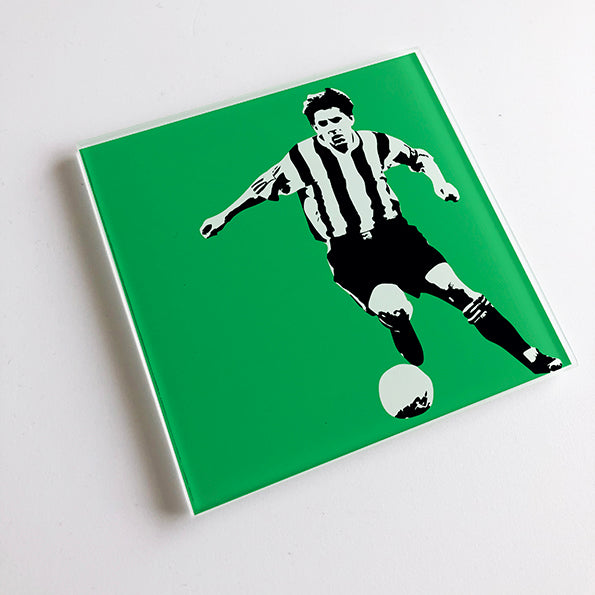 Peter Beardsley NUFC Glass Coaster
