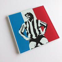David Ginola France NUFC Glass Coaster