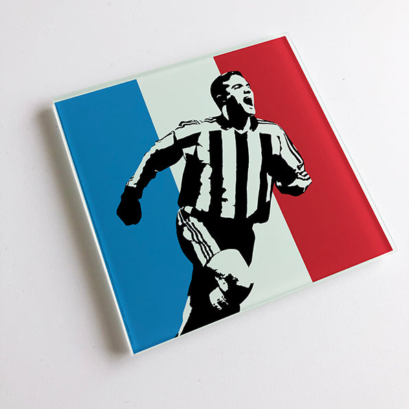 Laurent Robert France NUFC Glass Coaster