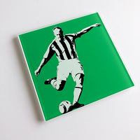 Alan Shearer Penalty NUFC Glass Coaster