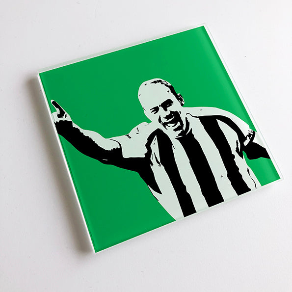 Alan Shearer England NUFC Glass Coaster