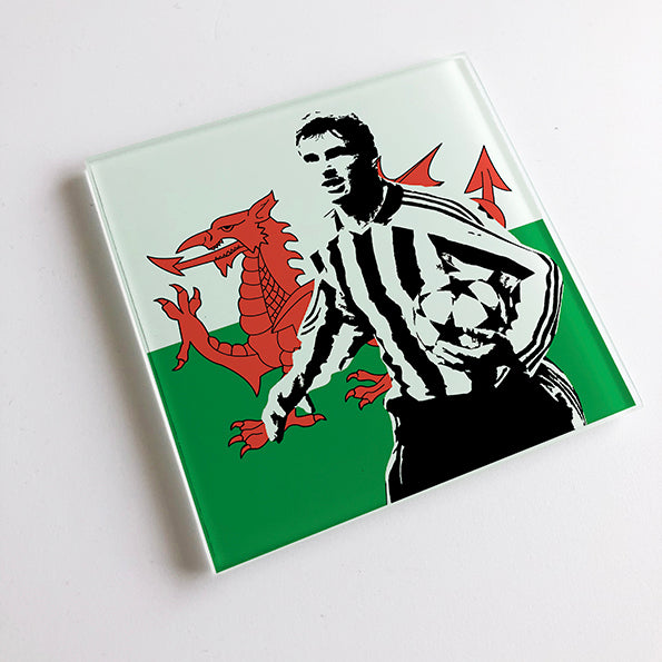 Gary Speed Wales NUFC Glass Coaster