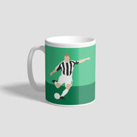 Alan Shearer Penalty Simple Style NUFC Geordie Mug
