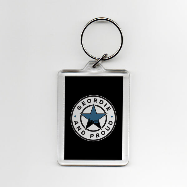 Geordie and Proud Geordie Plastic Keyring