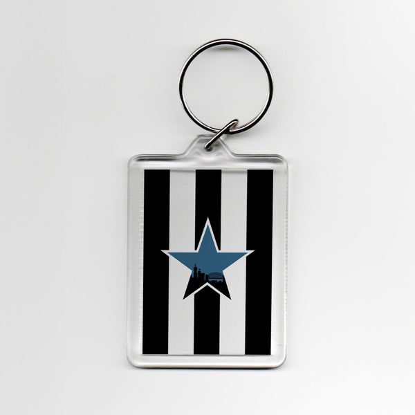 Newcastle Home Shirt 93-95 Plastic Keyring