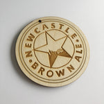 Newcastle Brown Ale Wooden Door Plaque Sign 10cm Diameter