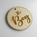 The Bog Wooden Door Plaque Sign 10cm Diameter