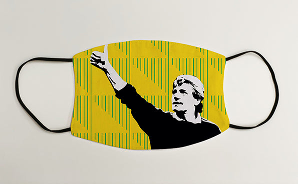 Kevin Keegan Manager NUFC Geordie Face Mask Covering
