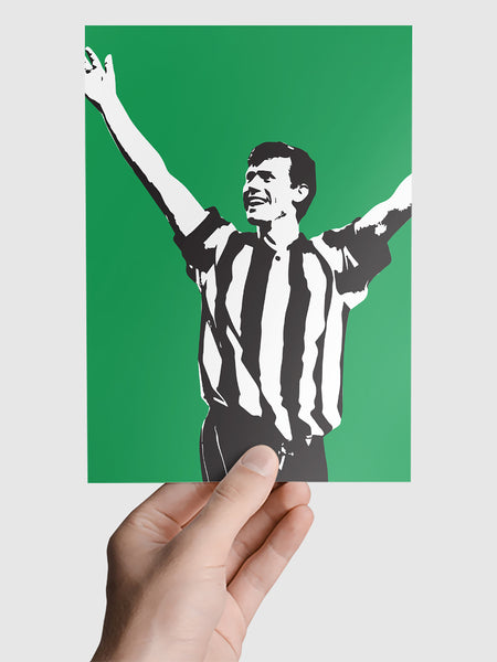 Robert Lee NUFC Geordie Print A5, A4, A3 A2 or A1 Sizes