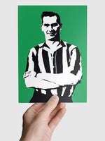 Jackie Milburn NUFC Geordie Print A5, A4, A3 A2 or A1 Sizes