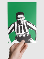 Mirandinha NUFC Geordie Print A5, A4, A3 A2 or A1 Sizes