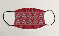 Red and White Snowflake Christmas Jumper Christmas Face Mask Face Covering